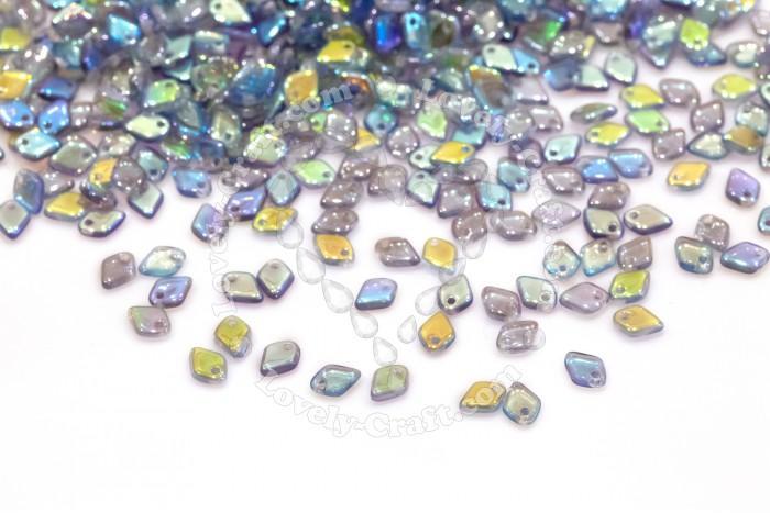 Бусины бусины Dragon Scale 1,5х5 мм Crystal Blue Rainbow (#00030-98538) в интернет-магазине «Любимое Творчество»