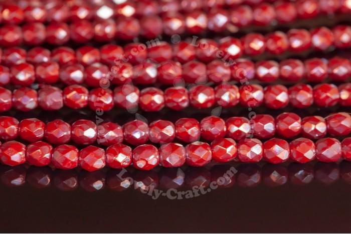 Купить бусины Fire Polished 4 мм цвет Nebula Red (#93200-15001) в интернет-магазине «Любимое Творчество»