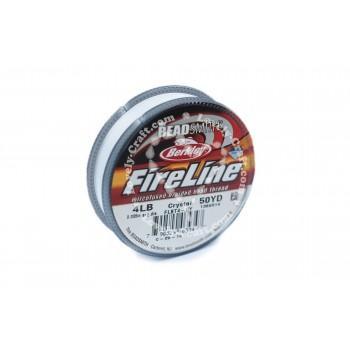 Купить нить для бисероплетения Beadsmith FireLine 0,13 мм (белая) в интернет-магазине «Любимое Творчество»