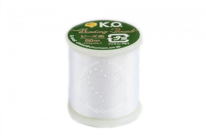 Купить нить K.O. для бисероплетения белого цвета в интернет-магазине «Любимое Творчество»