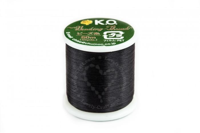 Купить нить K.O. для бисероплетения черного цвета в интернет-магазине «Любимое Творчество»
