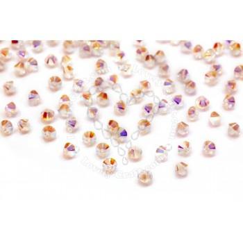 Купить Бусины Swarovski Биконусы XILION 5328 (Crystal Aurore Boreale #001 AB2) - 4 мм в интернет-магазине «Любимое Творчество»